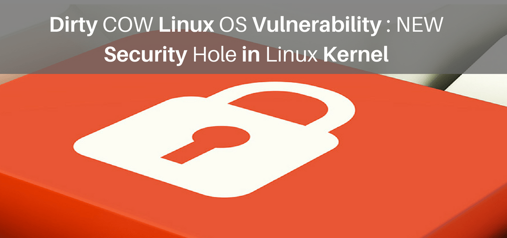 Dirty COW Linux OS Vulnerability : NEW Security Hole in Linux Kernel