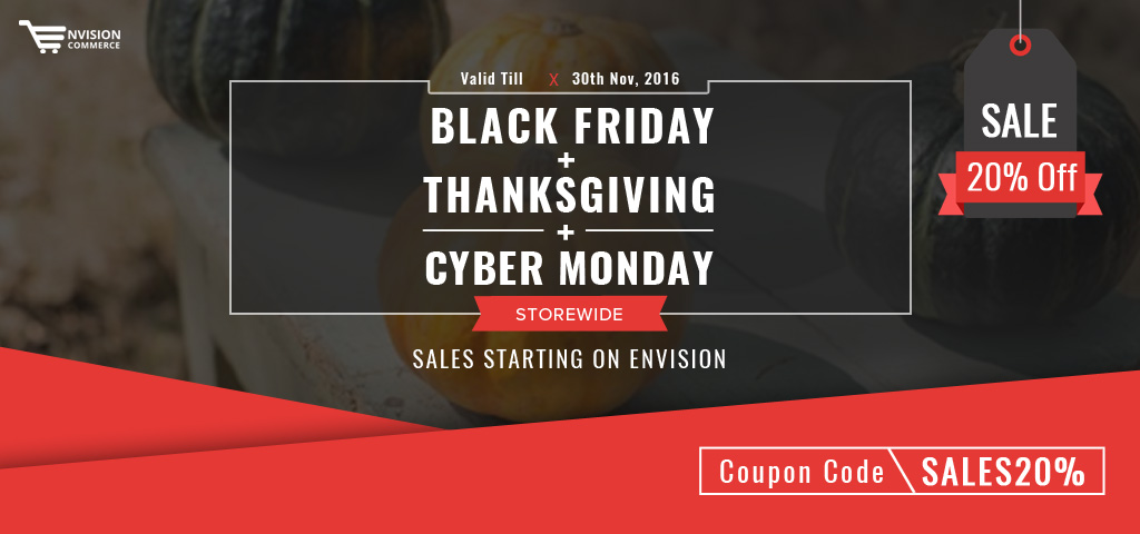 Envision Ecommerce Cyber Monday Sale 2016 – Save 20% Off!