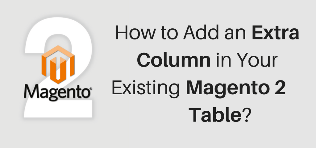 How to Add an Extra Column in Your Existing Magento 2 Table?