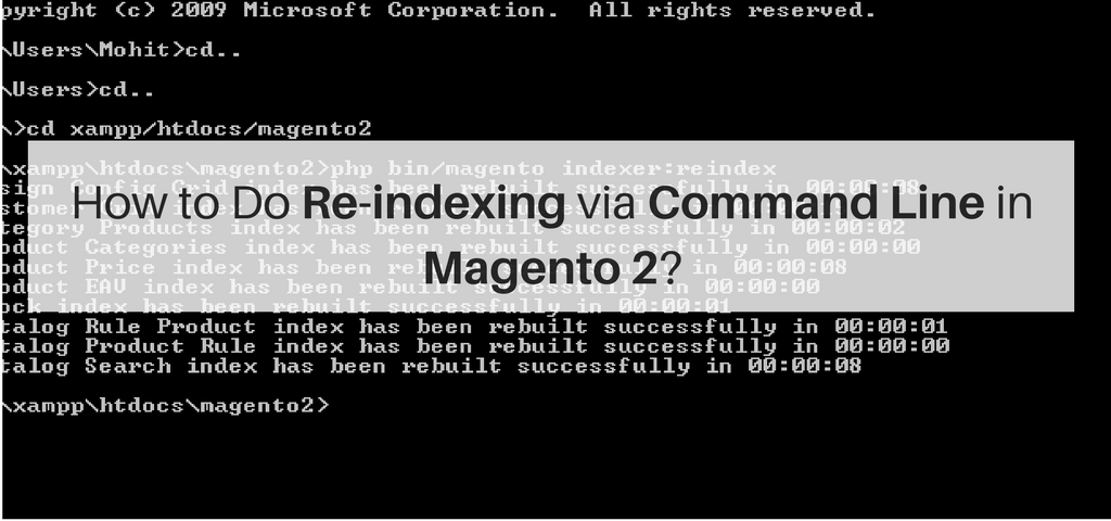 How to Do Re-indexing via Command Line in Magento 2?